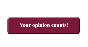 You opinion counts!