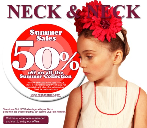 NECK & NECK Summer Sales